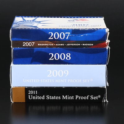 Four U.S. Mint Proof Coin Sets