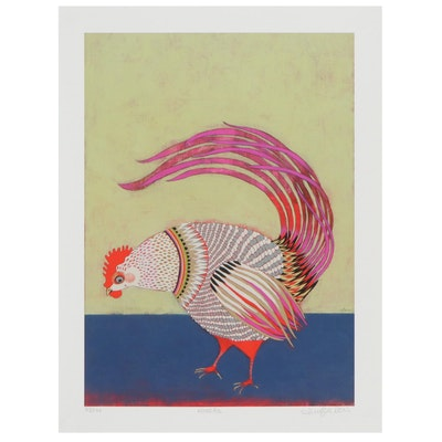 """Jennifer Davis Giclée """"Rooster,"""" 21st Century"""