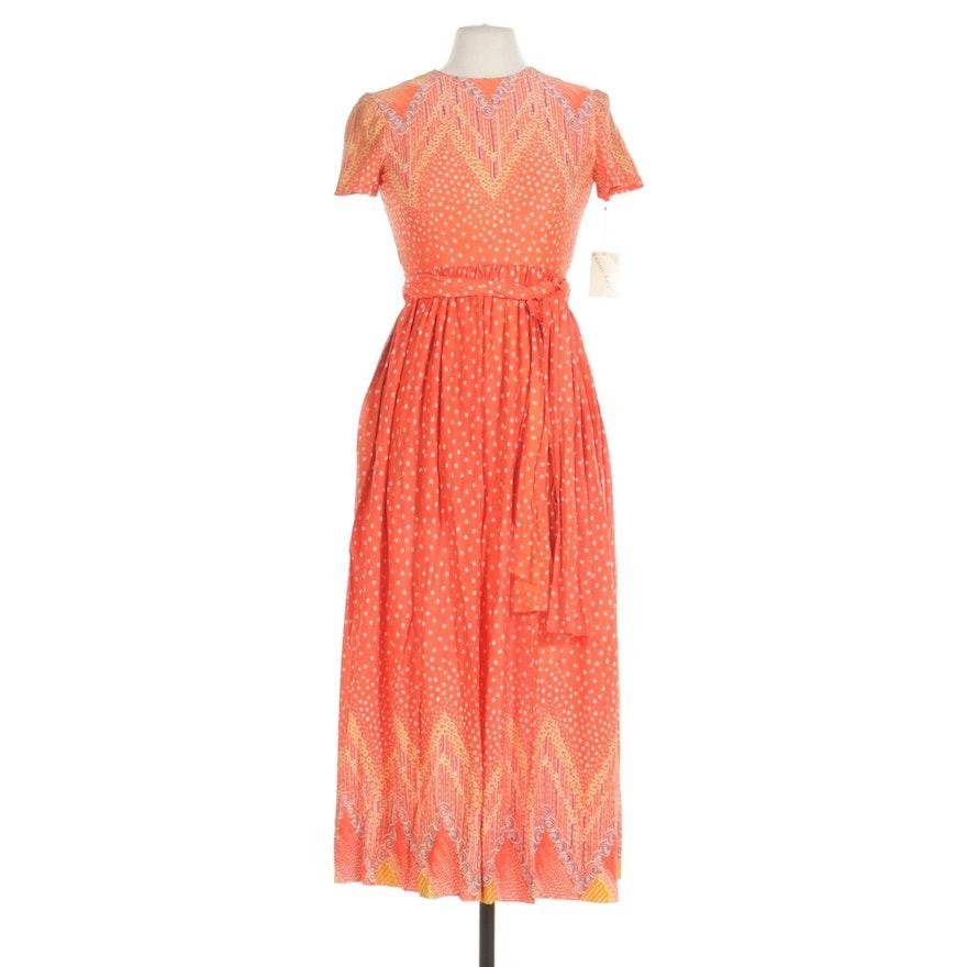 Sarmi New York Cap Sleeve Printed Dress