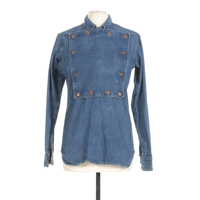 Polo Western Ralph Lauren Denim Bib Shirt