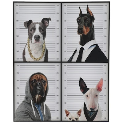 "Offset Lithograph ""Most Wanted Dogs,"" 21st Century"
