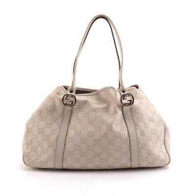 Gucci Twins Medium Tote in Ivory Guccissima Leather