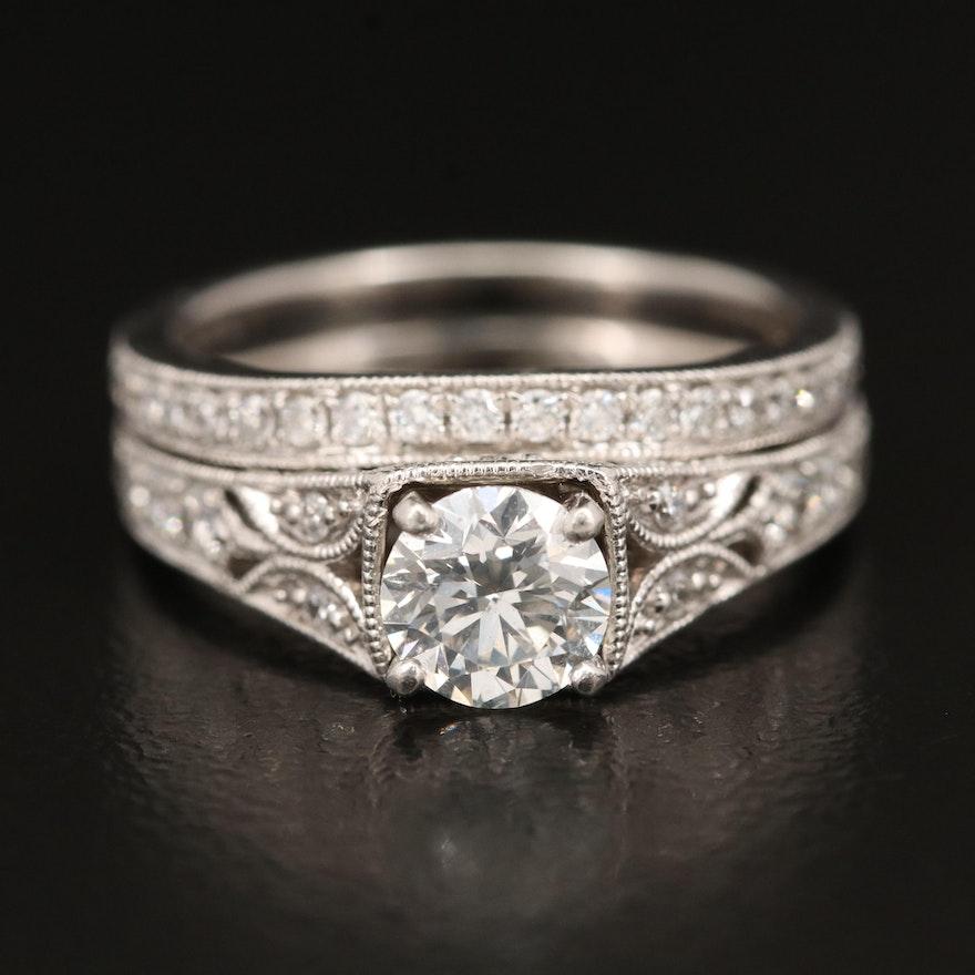Platinum 1.20 CTW Diamond Ring