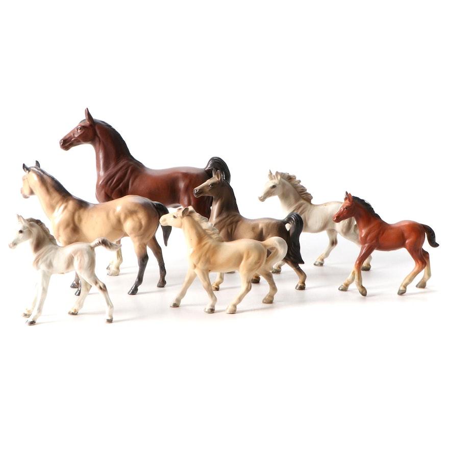 Ceramic Horse Figurines Including Hagen-Renaker and Napco