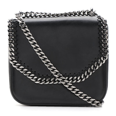 Stella McCartney Falabella Medium Shoulder Bag in Black Vegan Leather