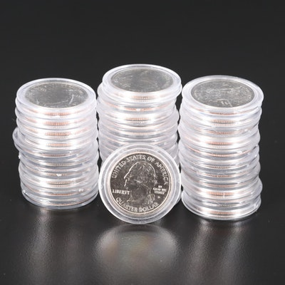 Thirty-Three U.S. Statehood Quarters
