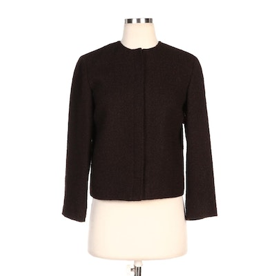 Dolce & Gabbana Brown Alpaca Tweed Jacket