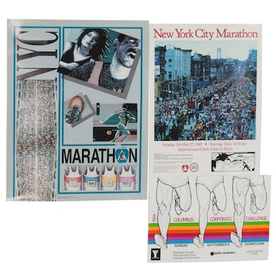 Lithograph and Offset Lithograph Marathon Event Posters, Late 20th Century