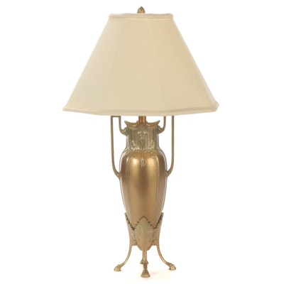 CCI Late Art Nouveau Style  Brass Urn Table Lamp