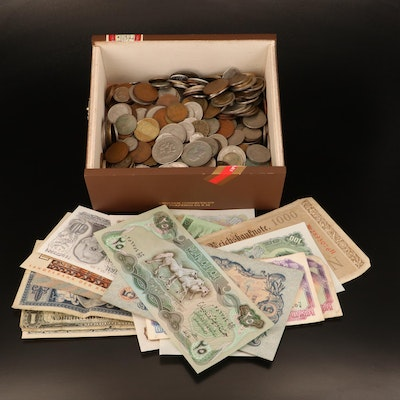 434 Foreign Coins and 18 Foreign Currency Banknotes