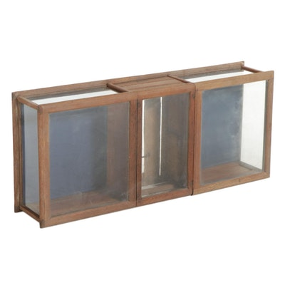 The Sun Manufacturing Company Oak, Pine and Glass Display Case, Early 20th C.