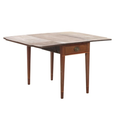 American Primitive Drop-Leaf Dining Table, Mid-19th Century