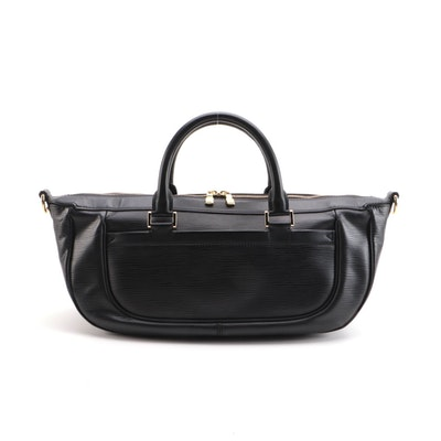 Louis Vuitton Dhanura MM Two-Way Bag in Black Epi and Smooth Leather