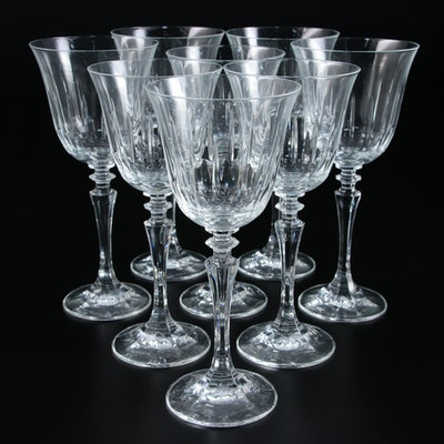 Cut Crystal Wine Glasses, Late 20th Century