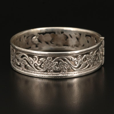 Sterling Cutout Bangle