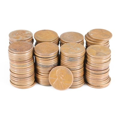 156 Lincoln Wheat Cents