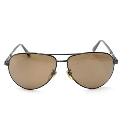 Versace Polarized Aviator Sunglasses with Brown Lenses