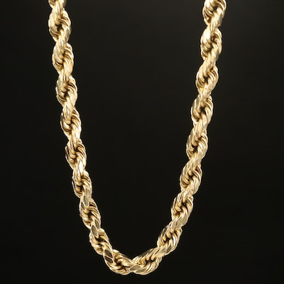 10K Rope Chain Necklace