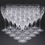 """Waterford """"Eclipse"""" Crystal Goblets, 1996–1997"""