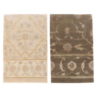 2' x 3' Hand-Knotted Nepalese Wool and Silk Accent Rugs from The Rug Gallery