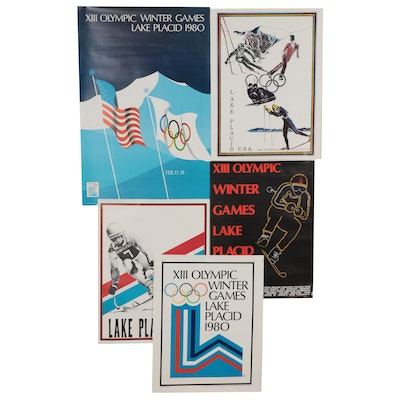 Lake Placid XIII Winter Olympics Posters, 1980