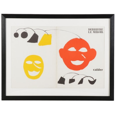 "Alexander Calder Color Lithograph Cover for ""Derrière le Miroir"""
