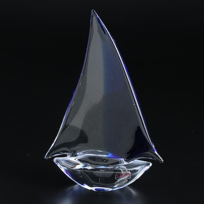 Oggetti Murano Art Glass Sail Boat Figurine