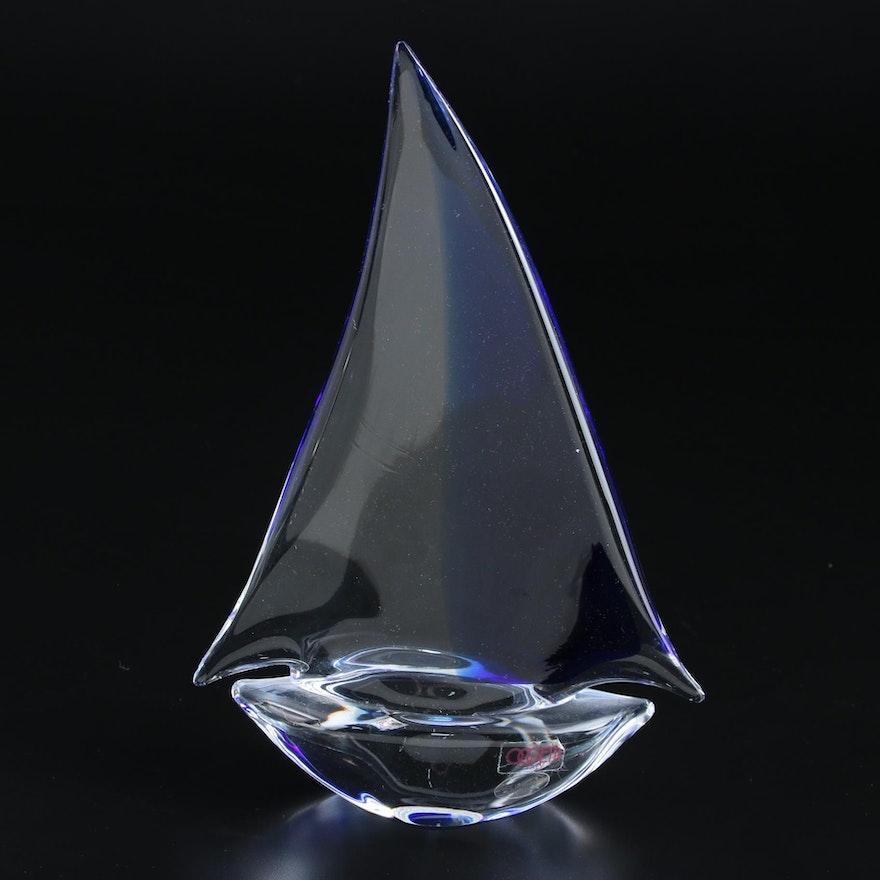 Oggetti Murano Art Glass Sail Boat Figurine