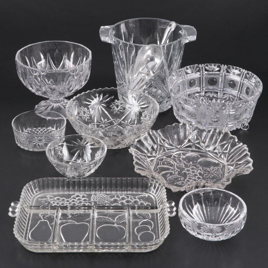 "Waterford Crystal ""Wynnewood"" Bowl, with Other Crystal and Glass Tableware"