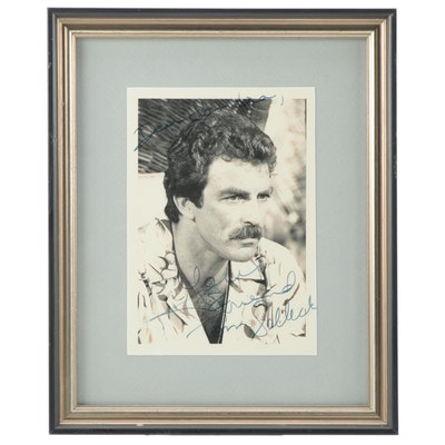Tom Selleck Signed and Personalized Framed Celebrity Photograph, 1980s