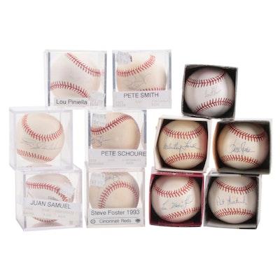 Whitey Ford, Lou Piniella, Tom Gordon, and Others Signed Rawlings MLB Baseballs