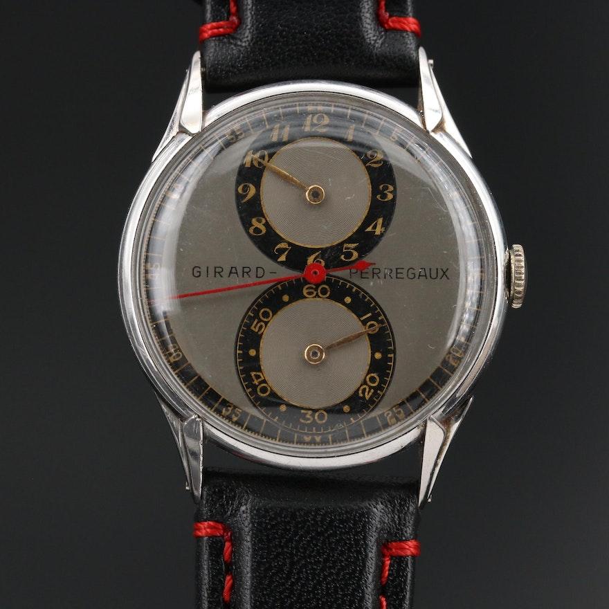 Vintage Girard-Perregaux Stainless Steel Stem Wind Doctor's Watch
