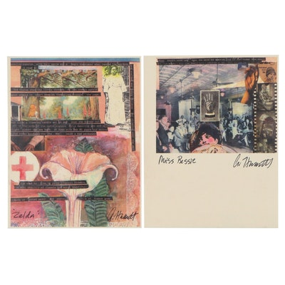 "Offset Lithographs of Abstract Collages ""Miss Bessie"" and ""Zelda"""