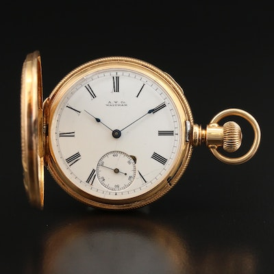 Antique 18K American Waltham Watch Co. Pocket Watch