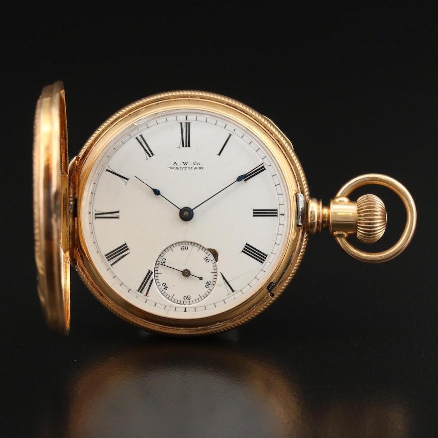 Antique 18K American Waltham Watch Co. Pocket Watch