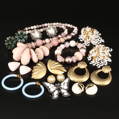 Vintage Costume Jewelry Including Lisner