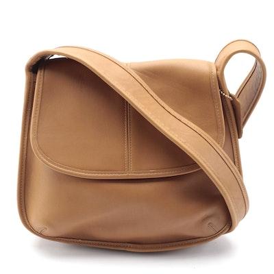 Coach Ergo Tan Leather Front Flap Shoulder Bag