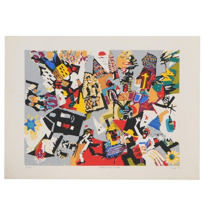 "Joe Jacobs Abstract Serigraph ""Braddock Boogie Woogie,"" 2003"