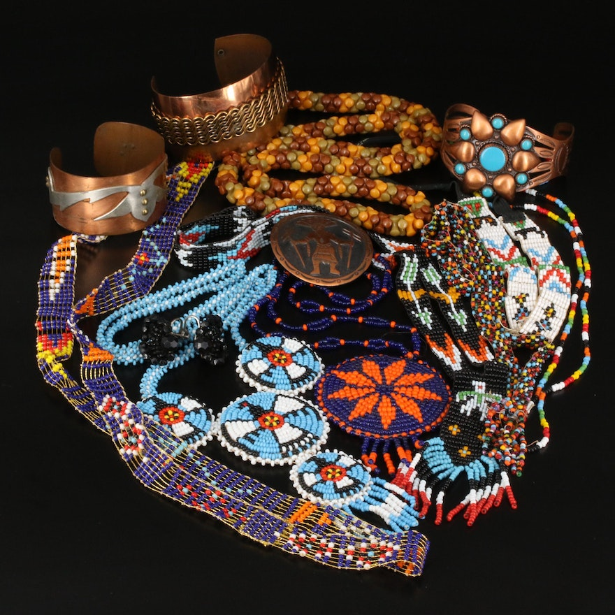 Southwestern Jewelry Including Bell Trading Post Cuff