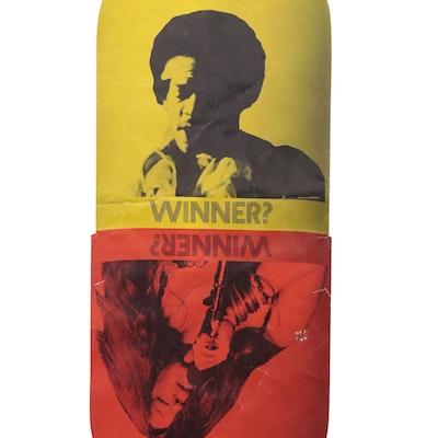 "Janis Joplin and Jimi Hendrix Anti-Drug Halftone Poster ""Winner? Winner?,"" 1970"