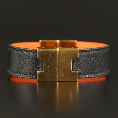 Hermès Reversible Leather Bangle