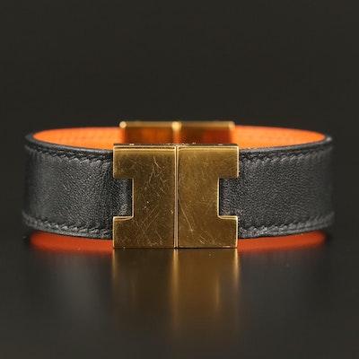 Hermès Reversible Leather Bangle