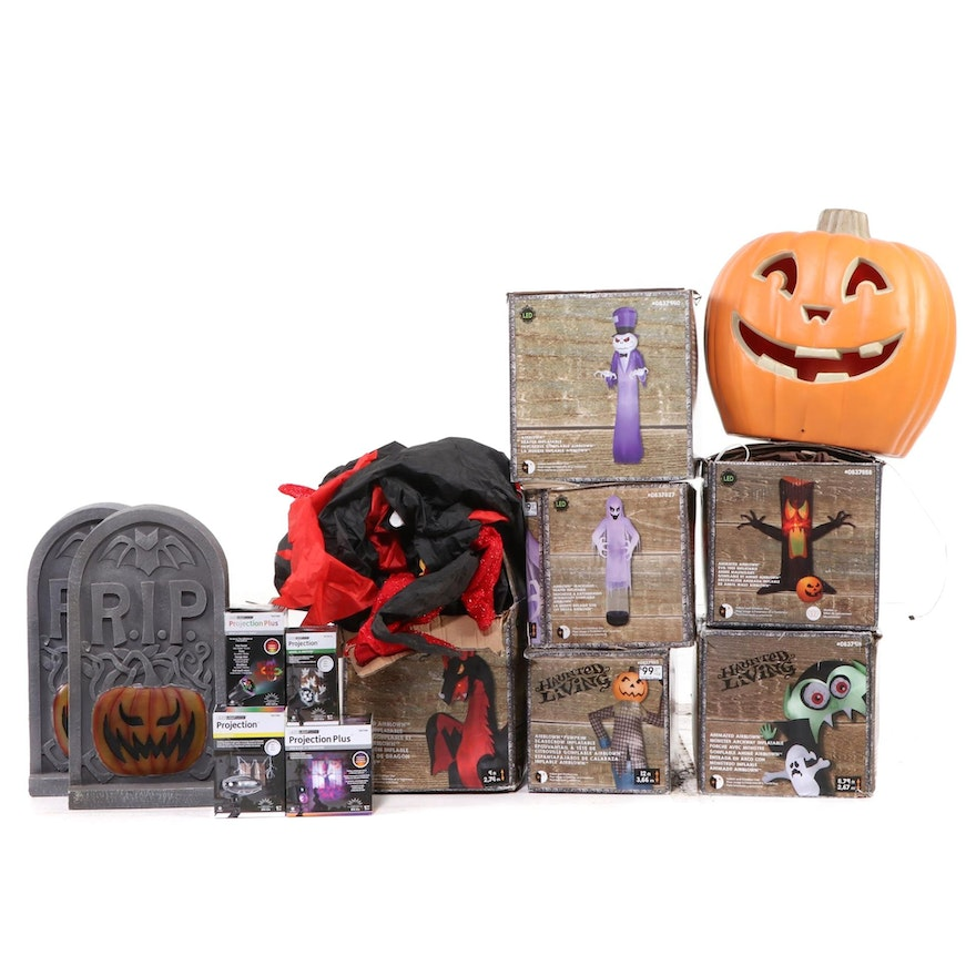 Haunted Living Inflatables and Other Halloween Yard Decor, Contemporary