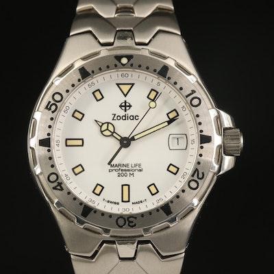 "Zodiac ""Mariner Life"" Stainless Steel Wristwatch"