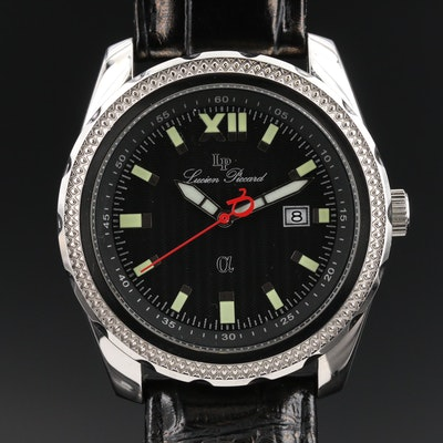 "Lucien Piccard ""Alpha"" Stainless Steel Quartz Wristwatch"