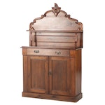 Victorian Pine and Walnut Buffet, Late 19th Century