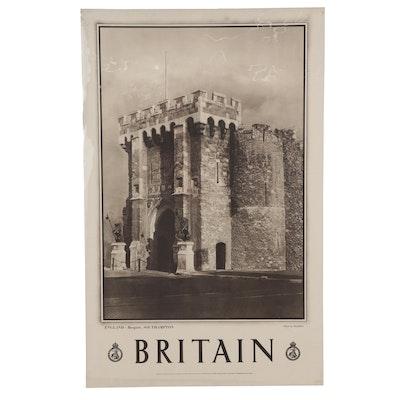 "Photogravure Travel Poster for Great Britain ""England - Bargate, Southhampton"""