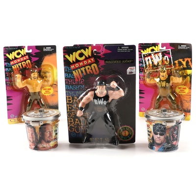 WCW and WWF Action Figures and Trading Cards