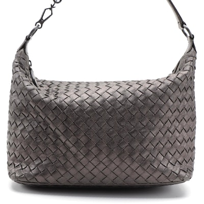 Bottega Veneta Metallic Intrecciato Hobo Bag in Nappa Leather