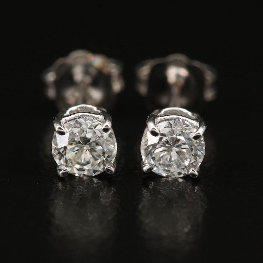 14K 0.60 CTW Diamond Stud Earrings